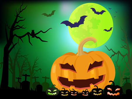 Happy halloween day background vector illustration. Ilustrace