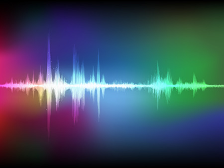Colorful abstract digital sound wave
