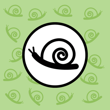 Snail icon sign and symbol Ilustrace