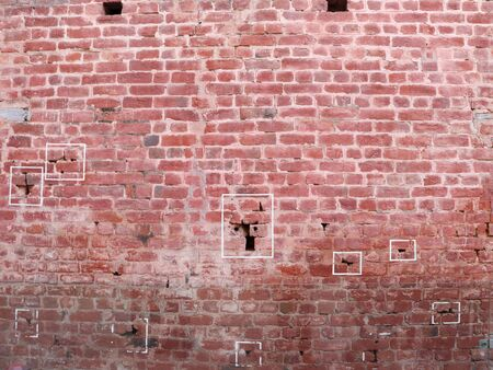 Marks on the wall where bullets struck inside Jallianwala Bagh in Amritsar in Punjab, India; a massacre carried out in 1919 스톡 콘텐츠