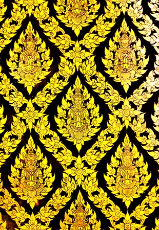 Thai Pattern Lacquer and gilded                         Stock Photo - 8899512