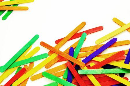 colorful wooden ice-cream stick Stock Photo - 8974121