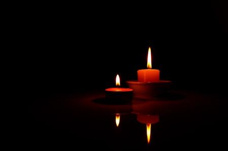 Candlelight Stockfoto