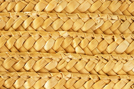 woven surface: Native Thai style bamboo basket  Stock Photo