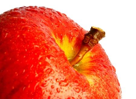 Red apple. Macro                    Stock Photo