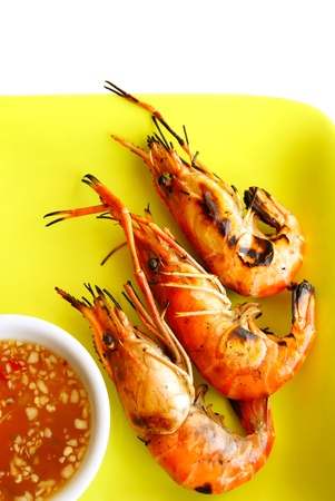 Grilled prawns                 photo