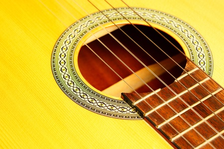 Acoustic Guitar Macro                        Stock Photo
