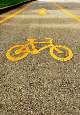 Bicycle track in Lumpini Garden Bangkok