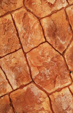 Pavement Made From Red Stone Plates Stock Photo - 10280853
