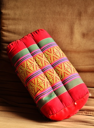 Old Backrest Pillow with Thai Style