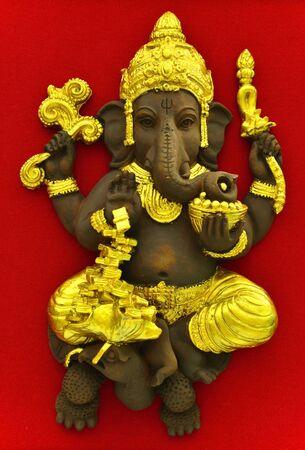 Ganesha, God of Hindu on The Red Carpet Background photo