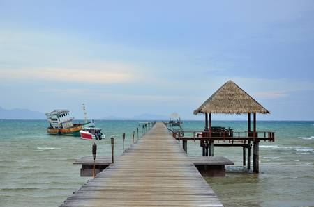 Wooden Jetty Over Sea