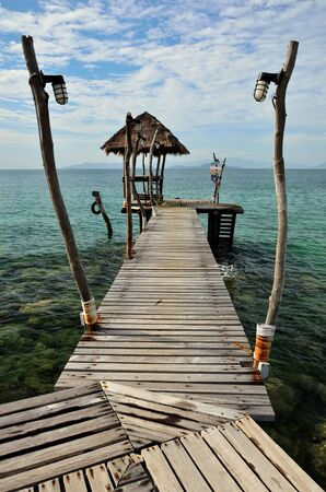 Wooden Jetty Over The Sea