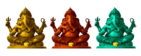 Colorful Ganesha, God of Hindu photo