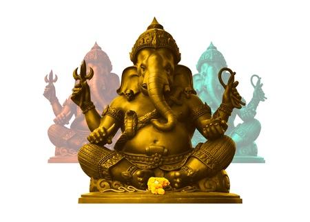 Golden Ganesha, God of Hindu photo