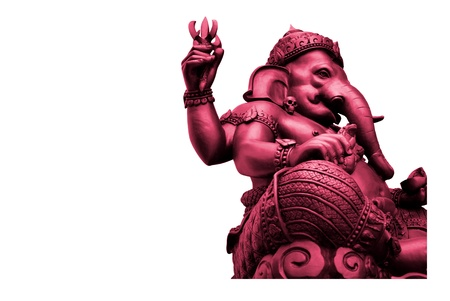 Pink Ganesha, God of Hindu Stock Photo