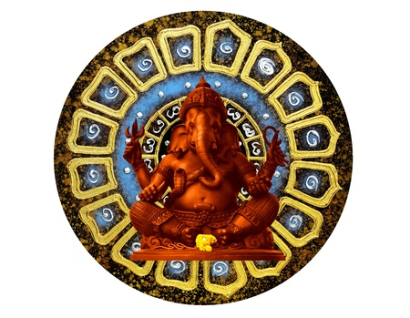 idool: Red Ganesha, de god van de Hindoe