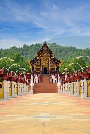 Ho Kham Luang in de internationale tuinbouw tuin, Chiang Mai Thailand Redactioneel