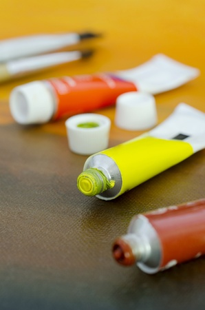 Oil Colour Tubes Stock Photo - 15441218
