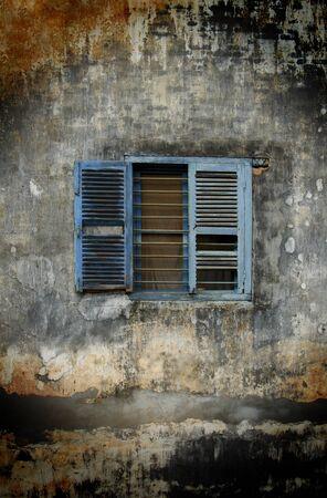Shabby Window Stock Photo
