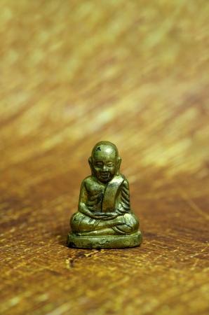 artifact: Little Statue of Monk Stock Photo