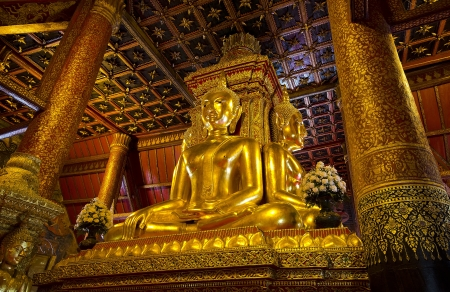 Wat Phumin, is a famous temple in Nan province, Thailand. The temple is open to the public and has beautiful murals on the walls.  Editorial