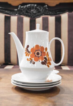 White Ceramic Teapot Stock Photo