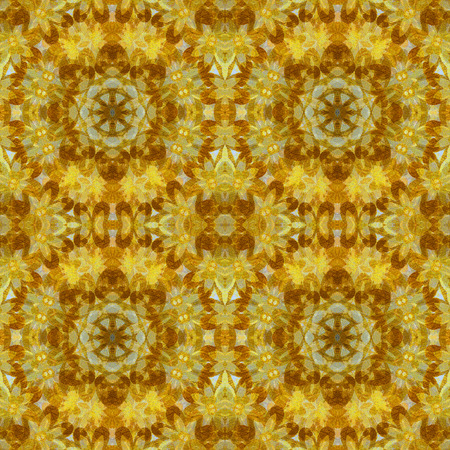 Abstract Orange Flower Background
