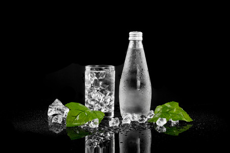 Bottle of Drinking Water Stock Photo