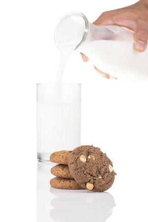 chocolate chip: Stack of Dark Chocolate Cookies and White Chocolate Chip