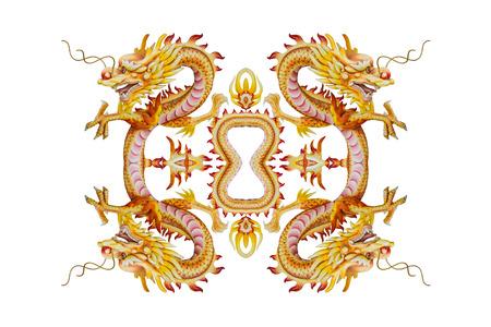 godliness: Background of Stucco four headed Dragon