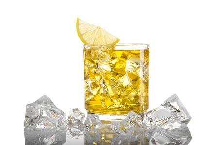 Galss of Ice Lemon Tea