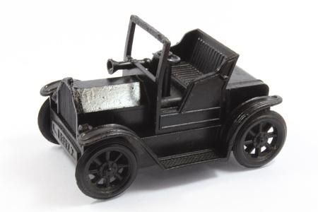 Model black Jeep on white blackground
