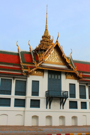 Part of Wat Phra Kaew temple in Thailand