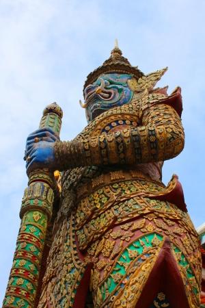 tunable: Giant in Wat Phra Kaew  Stock Photo
