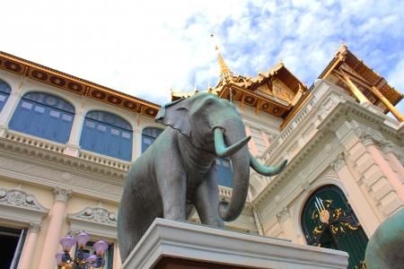 Elephant statue at The Royal Grand Palace  Wat Phra Kaew  in Bangkok, Thailand