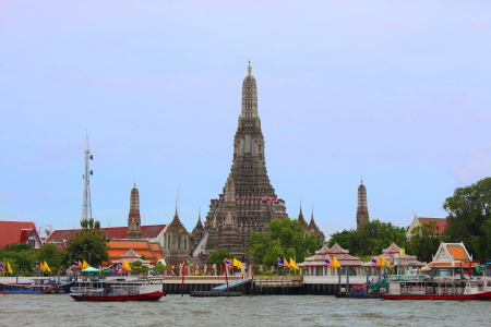 Pagoda of Wat  Arun,  Bangkok  Thailand Stock Photo