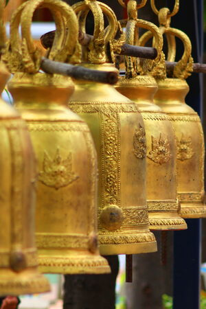 Brass bell in temple of Thailand