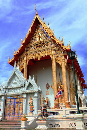Bang Phai Temple at Nontaburi , Thailand Stock Photo - 24471118