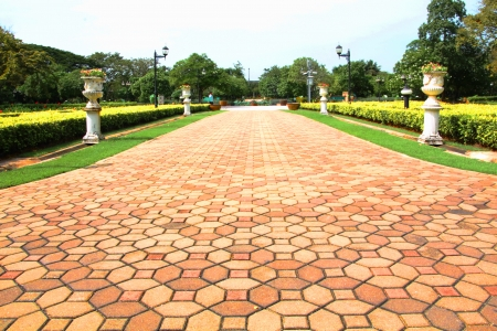 Stone pathway in the public park