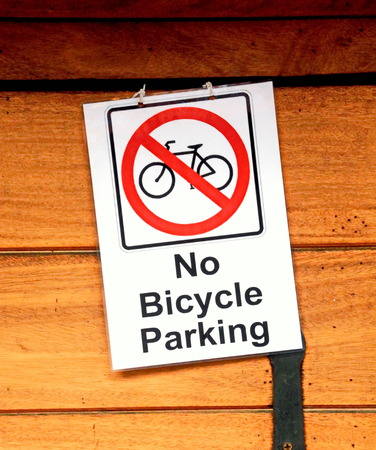 Label of No Bicycle Parking Stock Photo