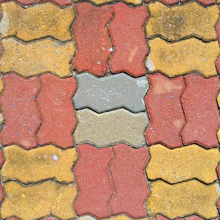 weed block: Brick footpath background.