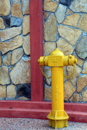 water supply: Yellow Pipe of Fire fighting water supply