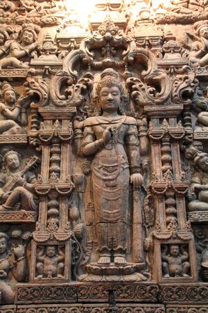 laterite: Laterite carved image Stock Photo