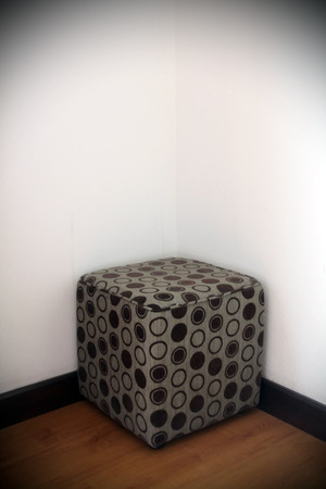 stool: Stool chair in room corner