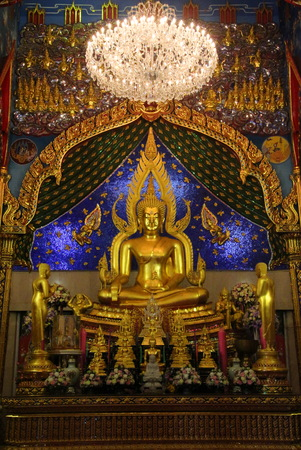 replica: Replica Phra phuttha chinnarat at thai temple