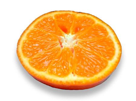 Piece orange slices , Isolated