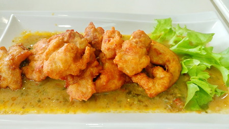 flavoursome: Green curry with chicken milanese
