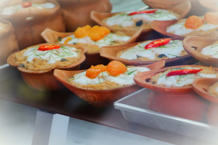 ?Homok fish  in earthenware , Thai food