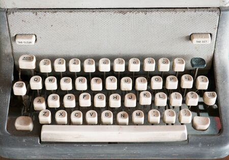 closed up: Closed up of vintage typewriter